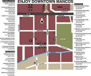 MAP OF DOWNTOWN MANCOS, COLORADO